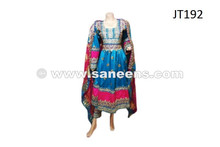 afghan fashion dress in light blue color
