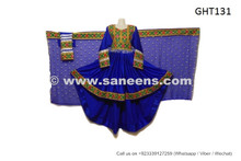 afghan dress in blue color