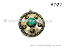 afghan kuchi pendants, wholesale tribal lockets with turquoise stones