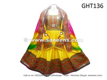 afghan dress in yellow color