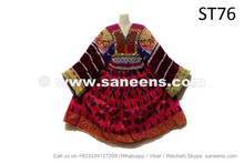 Beautiful Kuchi Traditional Dress Vintage Afghan National Frock Choli