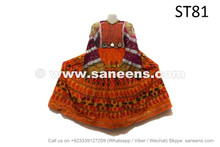 Afghan Berber Vintage Fashionable Dress With Fancy Embroidery Work