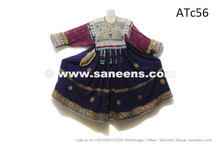 afghan coins frock with beads work