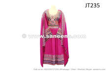 afghan muslim bridal frock dress in pink color