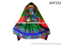 afghan muslim wedding dress in green color