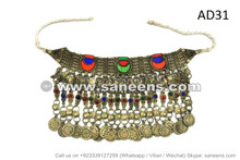 afghan kuchi tribal chokers necklace