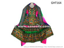 Mirrors Work Afghan Clothing Pashtun Bridal Persian Style Dress Frock