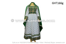 afghan muslim pashtun bridal white dress gown