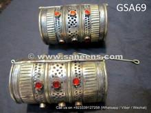 afghan muslim tribal bracelets, bellydance performance cuffs online