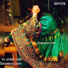 Afghan Clothes In Green Color With Banarasi Fabric