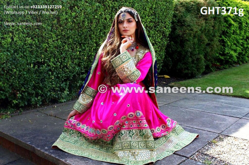 arabic wedding dress afghan clothing