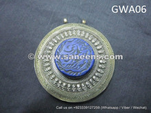 afghan nomad ethnic artwork locket pendant