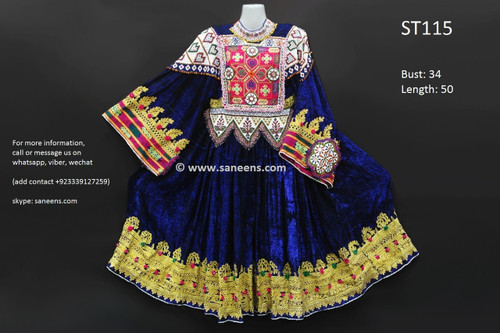 afghani dress, vintage kuchi frock