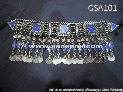 afghanistan muslim artwork lapis stone necklace