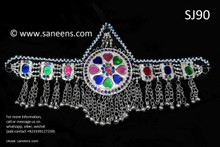 afghan jewelry, persian singer forehead jewelry