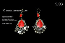afghan jewelry, kuchi earrings