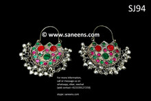 afghan jewelry, pashtun singer earrings