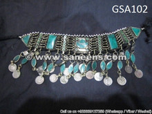 afghan muslim tribal ethnic necklace