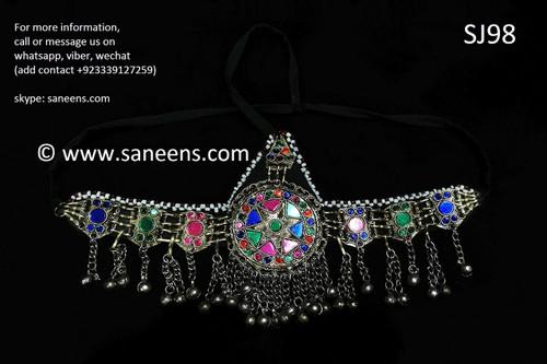 afghan jewelry, persian singer headdress
