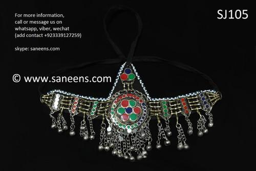 afghan jewelry, pashtun singer headdress
