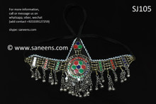 afghan jewelry, pashtun singer headdress