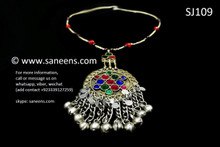 afghan jewelry, tribal fashion handmade necklace