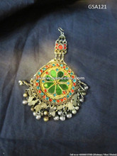 afghan nomad tika pendant, bellydance costuming jewelry pendant