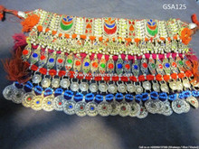kuchi tribal choker, afghan jewelry, cairo bellydance necklace
