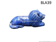 handmade afghan lapis stone lion