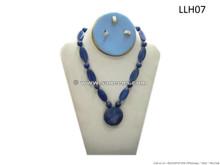 afghan lapis stone necklace, kuchi lapis beads choker