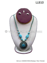 afghanistan turquoise stone necklace