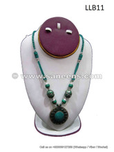 genuine afghan turquoise stone necklace choker