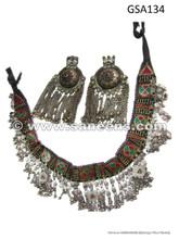 afghan kuchi tribal belt with pendants