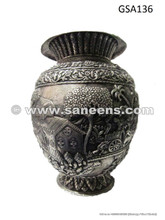 genuine afghan silver metal antique vase artifact