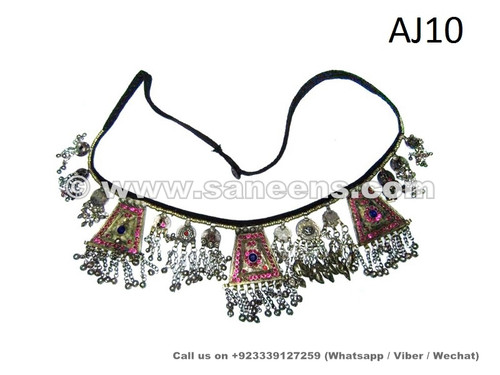 afghan kuchi belts with coins and buttons