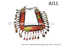 afghan kuchi belt with large medallions
