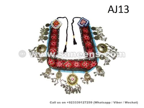 kuchi tribal handmade belt with beaded medallions