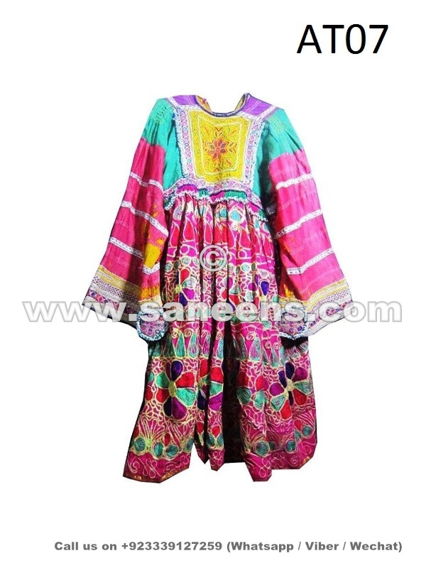 handmade tribal clothes afghan vintage dress with