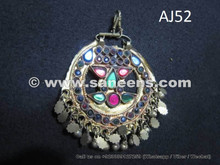 afghan kuchi pendant with stones