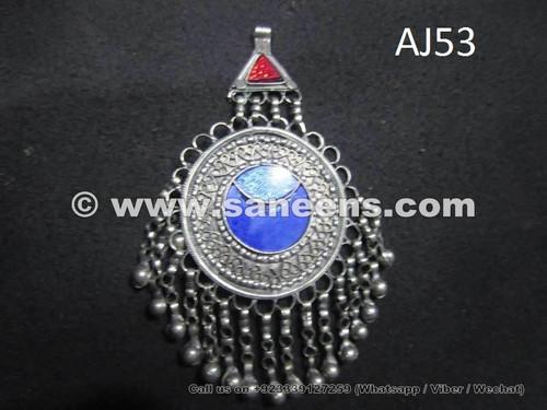 Afghan kuchi wholesale jewelry pendant handmade tribal tika gypsy afghan kuchi pendant with lapis stone aloadofball Images