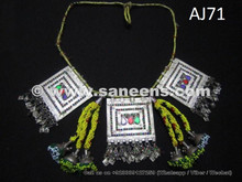 balochi necklaces, kuchi tribal chokers