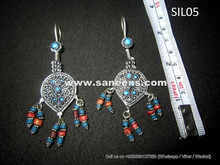 afghan jewelry in pure silver and genuine gemstones
