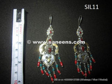 afghan kuchi earrings in silver metal