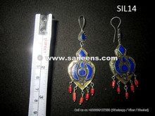 wholesale afghanistan kuchi earrings in pure silver