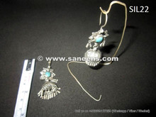 afghan kuchi banjara earrings in pure silver, gypsy river handmade jhumkey