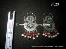 kuchi jewellery earrings in pure silver metal