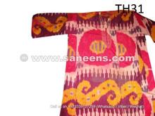 traditional uzbekistan embroidered ikat