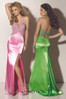 Paparazzi Evening & Prom 91107. Lime Green size 10. Strappy satin beaded top evening gown.