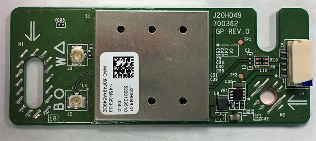 Sony 1-458-353-33 (J20H049, 700362) Wireless LAN Card - Top
