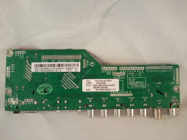RCA 55120RE01M3393LNA66-A1 Main Board (back)